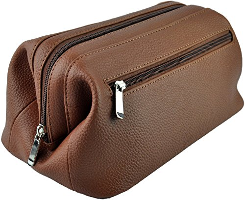 royce-leather-colombian-vaquetta-cowhide-toiletry-bag-one-size-tan-pebbled