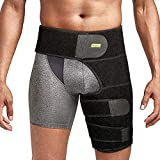 Compression Brace for Hip, Thigh Support Groin Brace Sciatica Relief Wrap with Adjustable Straps for Thigh Hamstring, Quadriceps, Joints Injury, Muscles Strain Pain Relief, Fits Men and Women