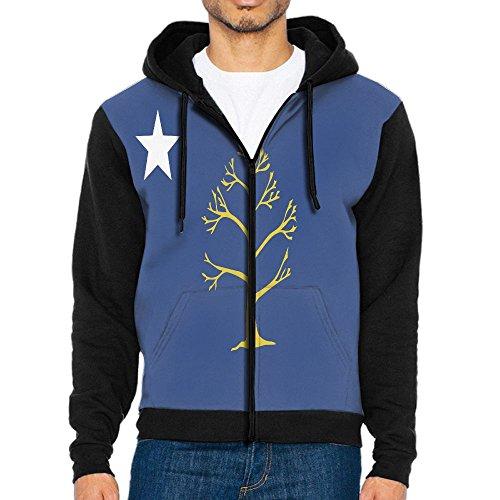 Atlanta City Flag Fashion Zipper Long Sleeve Hooded Pocket Sweatshirt Coat Jacket For Men Teens Sports