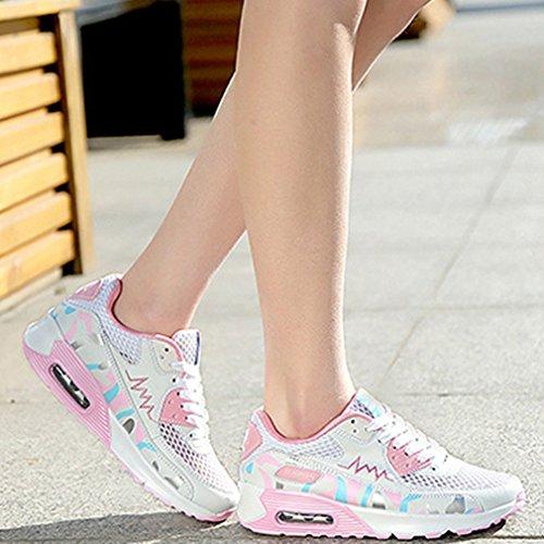Zapatillas altas Mujer rosa blanco LFEU wTfq4ARq