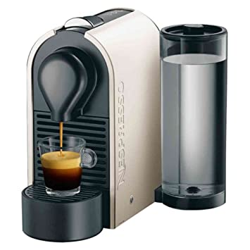 Nespresso U Creamy white (beige) XN2501 P4 Krups - Cafetera monodosis (19 bares