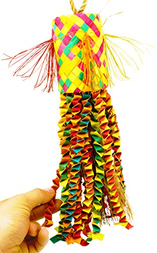 03123 Large Octopus Pinata Bird Toy Cage Toys Cages Foraging Chew Shredder