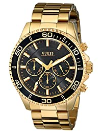 Guess Men's U0170G2 Black Stainless-Steel Analog Quartz Watch