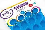 Silicone Nonstick Mini Cupcake Pan – 24 cup mini muffin tin – BPA Free ...
