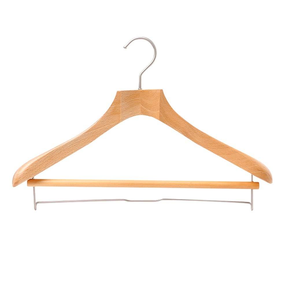 8つの頑丈な木のスーツのハンガーの服のコートのズボンのための特別に広い肩が付いているジャケットのハンガー 洗濯用品 衣類ハンガー (Color : Natural, Size : 43.5*29cm) B07SM4DDKF Natural 43.5*29cm
