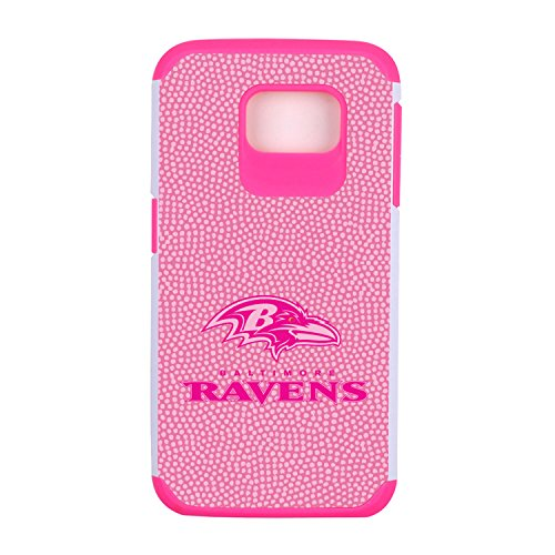 NFL Baltimore Ravens Football Pebble Grain Feel Samsung Galaxy S6 Case, Pink