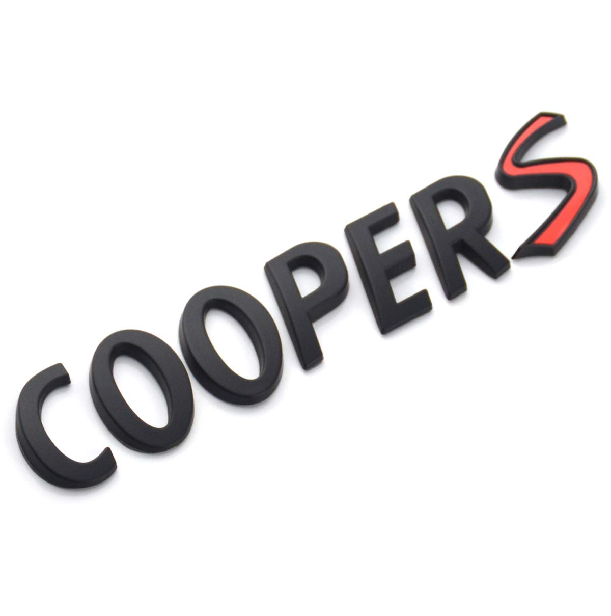 EmbRoom Cooper S Letter Emblem Black//Red 3D Badge Lettering Decal Sticker Replacement for Mini Cooper Rear Trunk Lid Hatch Tailgate