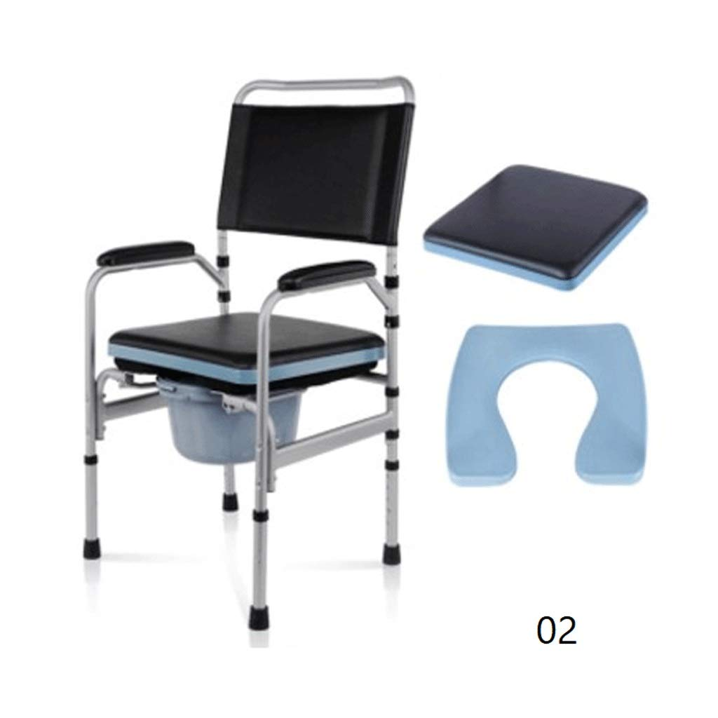 YJDTUJ Toilet Chair Mobile Commode Chair Commode Elderly Pregnant Women Toilet Chair Toilet Elderly Patient Care Breathable Cushion Hips Slow Tail Bone Pain (Color : 2)