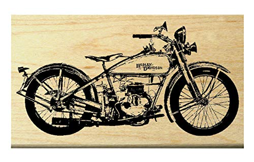 P20 Vintage=Classic Harley style motorcycle rubber stamp ()