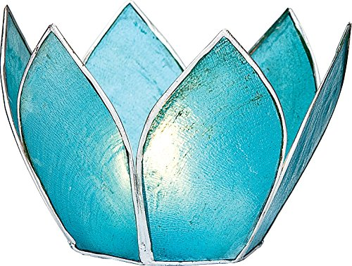 Bazaar Candle 2 25 Inch Turquoise Silver Edged
