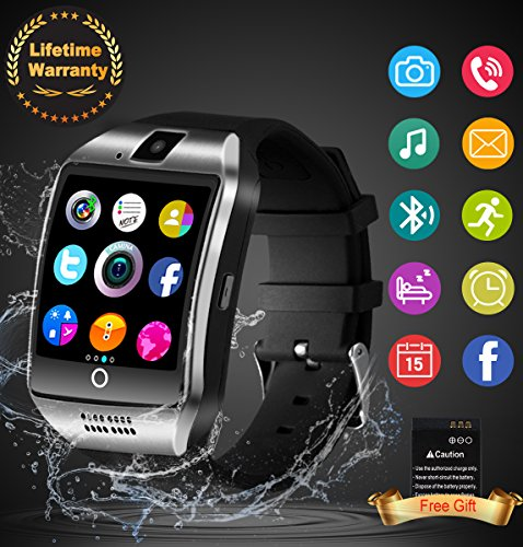 Bluetooth Smart Watch Touchscreen with Camera, Unlocked Watch Cell Phone with Sim Card Slot, Smart Wrist Watch, Waterproof Smartwatch Phone for Android Samsung IOS Iphone 7 Plus 6S