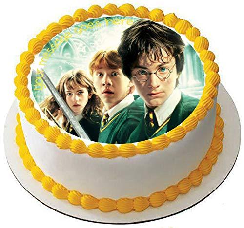 Harry Potter - Decoración comestible para tarta (19 cm), diseño de fondant