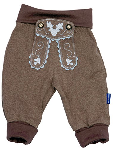 Price comparison product image Eisenherz Little Boy's Leather Look Jogging Pants,  100% Cotton,  0-3 Months,  18-24 '',  Brown
