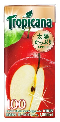 1LX6 this Kirin Tropicana 100% apple by Tropicana