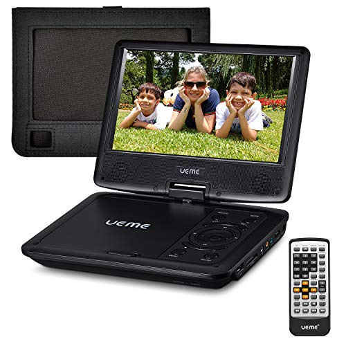 "UEME 9"" Portable DVD CD Player Includes Car Headrest Mount H"