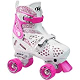 Trac Star Youth Girls' Adjustable Roller Skates,White,Pink color - Best Reviews Guide