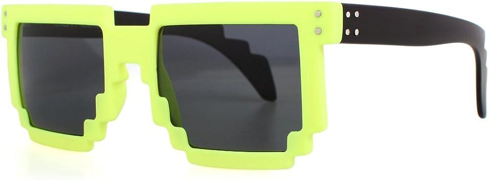 DISTRESSED Pixel Sonnenbrille im Retro Stil 70er 80er