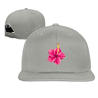 Hibiscus Flat Visor Snapback Hat Baseball Cap Blank Cap for Men Women