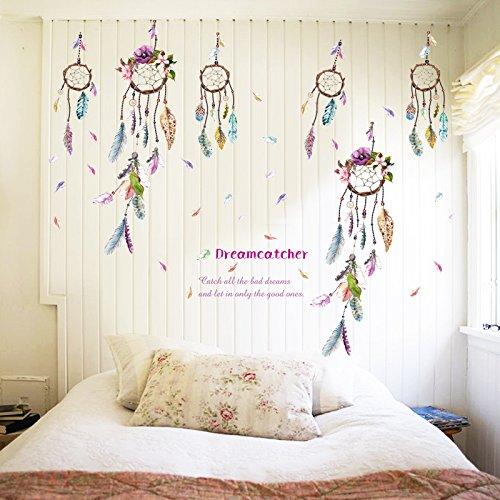 Dreamcatcher Feathers Windbell Wall Sticker Mural Art Vinyl Decals Home Decor
