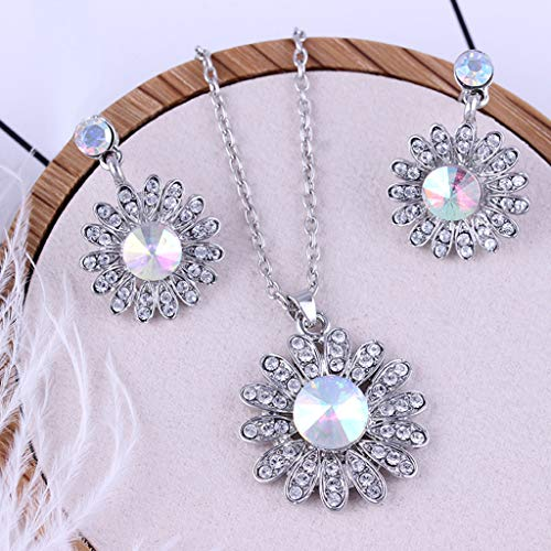 Toponly Women Love Heart Pendant Necklace Earrings Set, Sterling Silver Jewelry Set Gift Her by Toponly (Image #5)