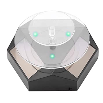 360° Rotating Turntable Acrylic Jewelry Display Disc for Jewelry Exhibitions