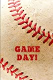 Game Day: Baseball Notebook Gift For Writing In: Blank Lined Journal, 6x9 Inches, 91 Pages
