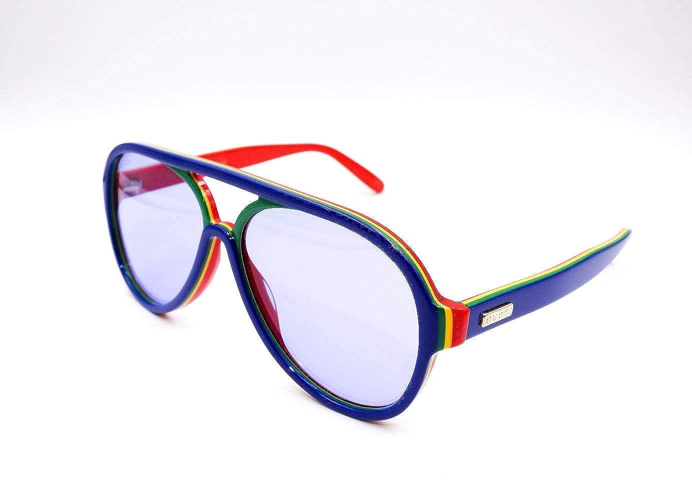 Gucci Gafas de Sol GG0270S BLUE/VIOLET hombre: Amazon.es ...