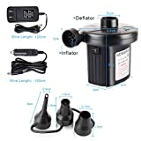 YANX Electric Air Pump, 110V AC/12V DC Portable Air
