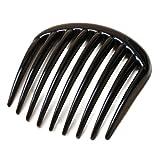 Black Large Toothed Side Hair Comb Slide 7.5cm