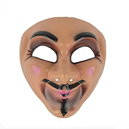 Halloween Horror Mask Full Face Clown Mask for Masquerade Party Fancy Dress Costume (gray)