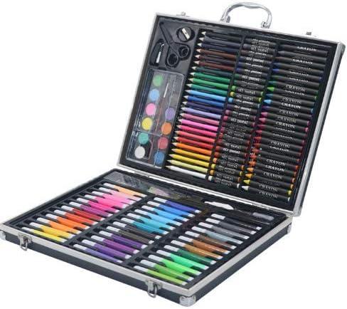 150 Art Studio con Estuche de Aluminio Negro - Juego de Colorear para niños - Lápices de Colores para niños, Pintura: Amazon.es: Hogar