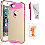iPhone 6 Plus/6s Plus case KXLY 2 in 1 Hybrid Heavy Duty Shockproof Protective Cover Hard PC Rugged Soft TPU Bumper...