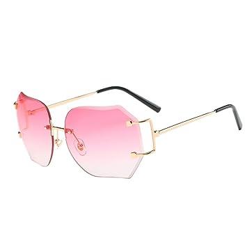 LHWY Femmes hommes voyage lunettes de soleil été Vintage Retro lunettes carré dégradé de couleur lunettes aviateur miroir lentille (Or, café)