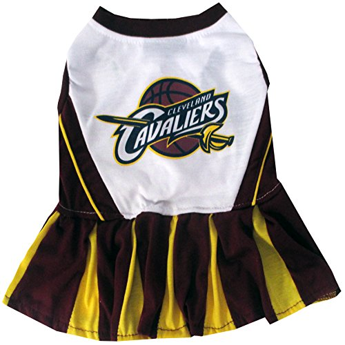 Cavalier Dress (Pets First NBA Cleveland Cavaliers Cheerleader Dress, Small)