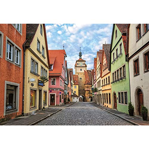 - OFILA Germany Streets Backdrop 8x6.5ft Bavaria Houses Photos Background Ancient Architecture Europa Historical Building Mediaeval Landmark Travel Photos Events Decor Digital Studio Props