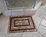 OnlineTeakFurniture 23.5'' Brazilian Plantation Teak Floor Mat for Bathroom, Kitchen, Spa, Swimming Pool, Sauna