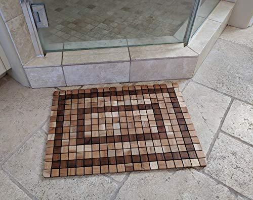 OnlineTeakFurniture 23.5'' Brazilian Plantation Teak Floor Mat for Bathroom, Kitchen, Spa, Swimming Pool, Sauna by OnlineTeakFurniture