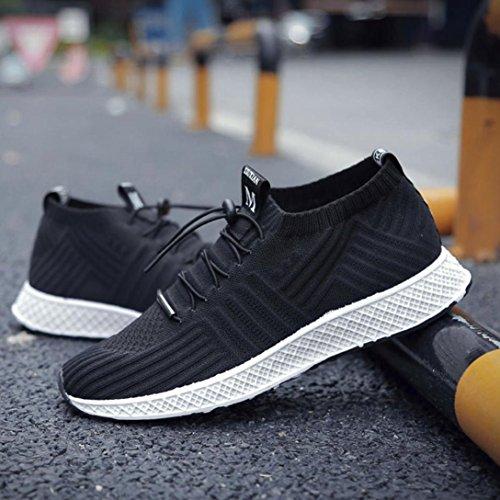 Casual Scarpe Nero Interior Outdoor Sport Sportive UOMOGO all'Aperto da Running Fitness Uomo Corsa 40 Casual Sneaker Asia da Tennis Scarpe Ginnastica 5qnaR
