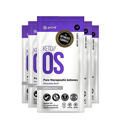 KETO//OS Chocolate Swirl No Caffeine, BHB Salts Ketogenic Supplement - Beta Hydroxybutyrates Exogenous Ketones for Fat Loss, Workout Energy Boost and Weight Management through Fast Ketosis, 5 Sachets