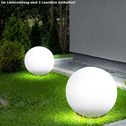 2 x boule extérieure ronde luminaire extérieur éclairage E27 jardin ...
