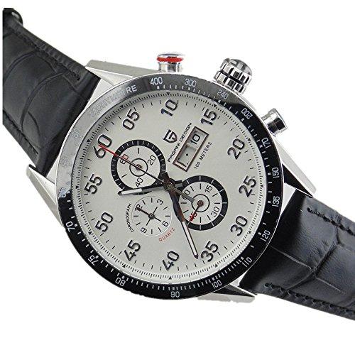 Pagani Design 44mm white dial full chronograph sport date Quartz mens watch 2109