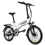 VIVI-Bici-Elettrica-Pieghevole-20-Bicicletta-ElettricaCity-Bike-350-W-E-bike-Per-Uomo-Donna-Con-Batteria-Rimovibile-Da-8-Ah-Shimano-7-Velocita
