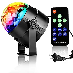 Disco Ball Party Decorations-NIUBIER Disco lights with Remote Control Music Actived Ocean Wave Lighting Effect LED balls for kids lightshow for Birthday ,Club,Wedding,Karaoke Machine