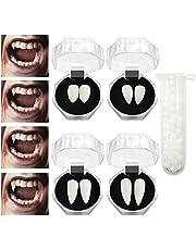 4 Pairs Halloween Vampire Teeth,Vampire Fangs,Horror False Teeth for Cosplay Halloween Themed Party Favors(4 Sizes)