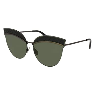 0ed0ce3453 Sunglasses Bottega Veneta BV 0101 S- 001 001 BLACK   GREY   RUTHENIUM at  Amazon Women s Clothing store