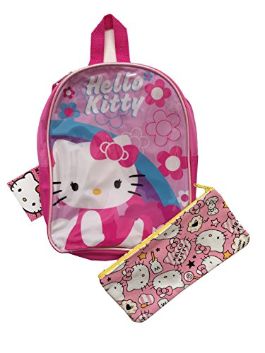 Hello Kitty Kids Toddler Girls Pink Mini Backpack and Pencil Case Pouch Gift Set