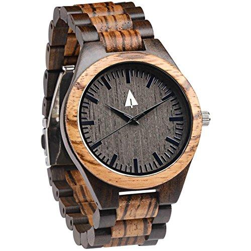 Treehut Zebrawood Ebony Wooden Watch product image