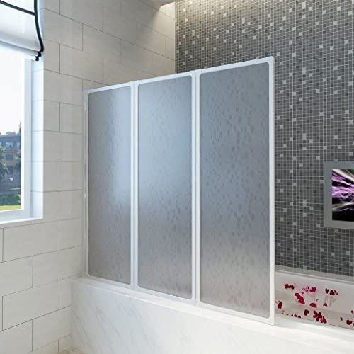 vidaXL Pantalla de Ducha Bañera Pared de Ducha Pantalla de Vapor 141 x 132 cm 3 Paneles Plegables: Amazon.es: Hogar