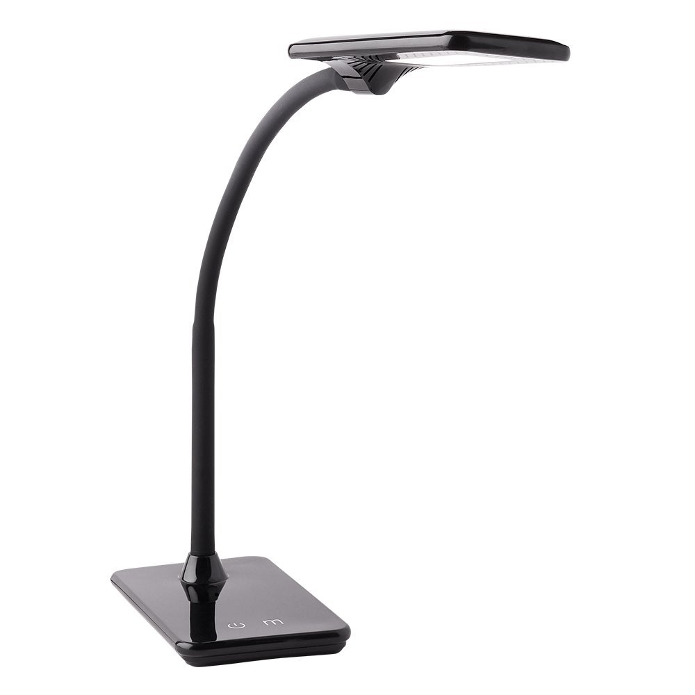 Newhouse Lighting NHDK-ZL-BK Zlata LED Desk Lamp with USB Charger, Touch Dimming and Color Change for Office Use, Black