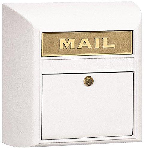Salsbury Industries 4150P-WHT Plain Door Modern Mailbox, White - Mailbox White Plain Door